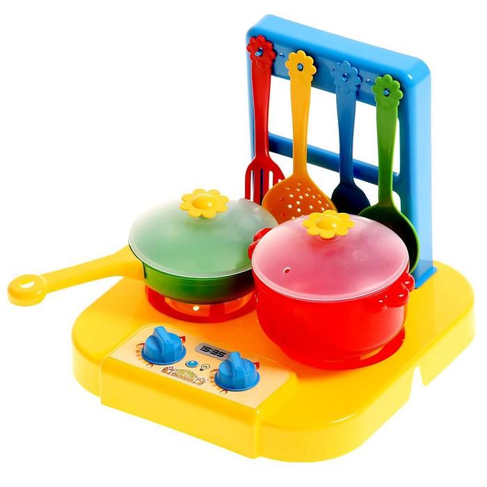 Набор посуды «Ромашка» с плиткой, 6 предметов, МИКС - фото 797656955