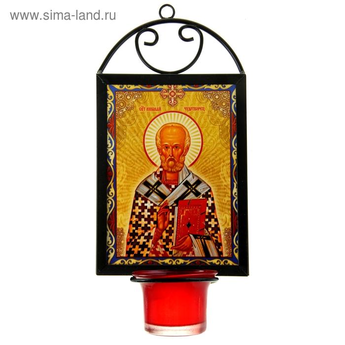 """Икона """"Святитель Николай Чудотворец"""" с лампадой"""