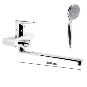Смеситель для ванны Accoona A7112, однорычажный, дивертор в корпусе, с душевым набором, хром