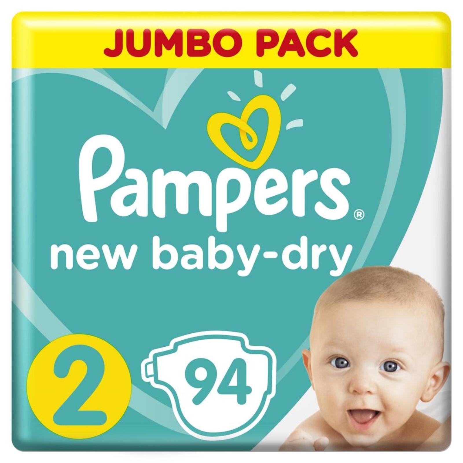 c93dd1343035 Подгузники Pampers New Baby-dry, Mini 2 (4-8 кг), 94 шт. (1156452 ...