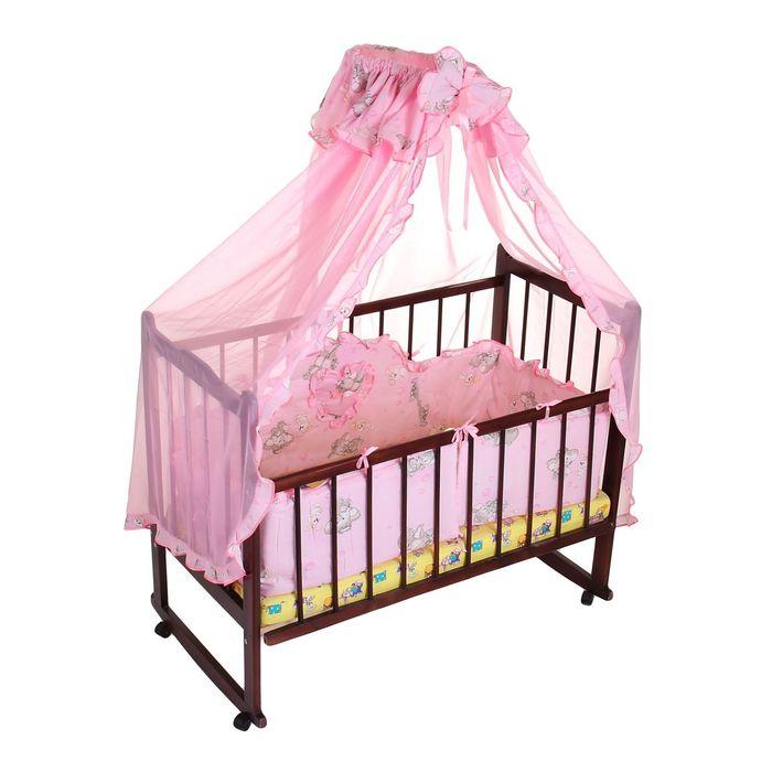 """Комплект в кроватку """"Слонята"""" (2 предмета), цвет розовый (арт. 1512)"""
