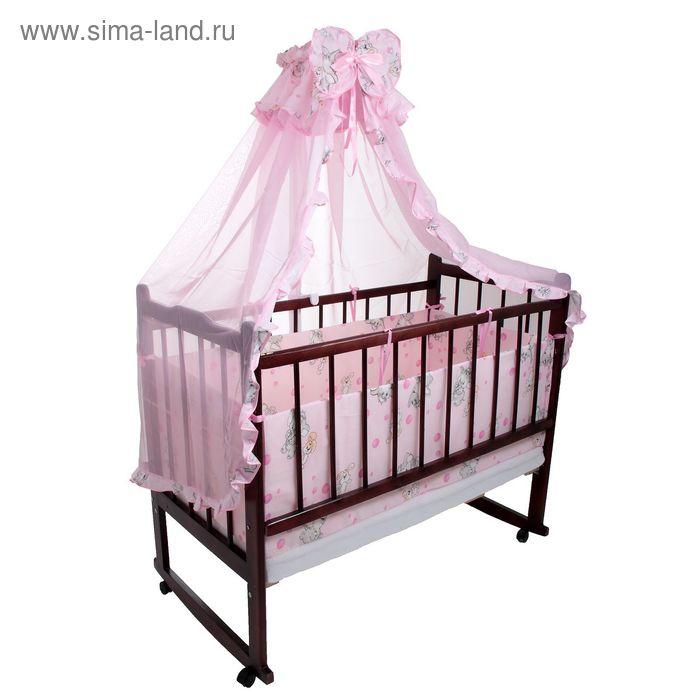 """Комплект в кроватку """"Слонята"""" (2 предмета), цвет розовый (арт. 1522)"""
