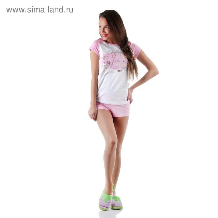 Комплект женский (футболка, шорты) 14С260 П, р-р 48