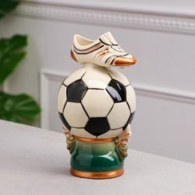 """Копилка """"Футбольный мяч"""", глянец, керамика, 22 см, микс"""