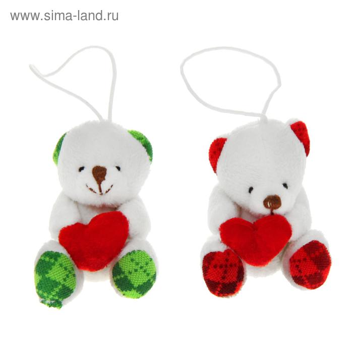 """Мягкая игрушка-подвеска """"Мишка"""", в лапах сердце"""