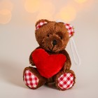 "Soft toy-suspension ""Bear"" in the clutches of the heart, MIX color"