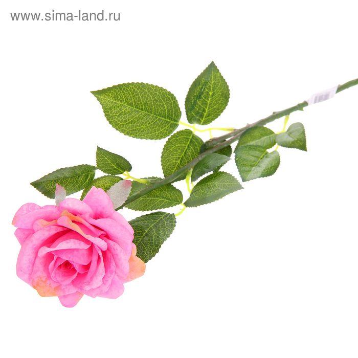 "Цветок искусственный ""Мраморная роза"" розовая"