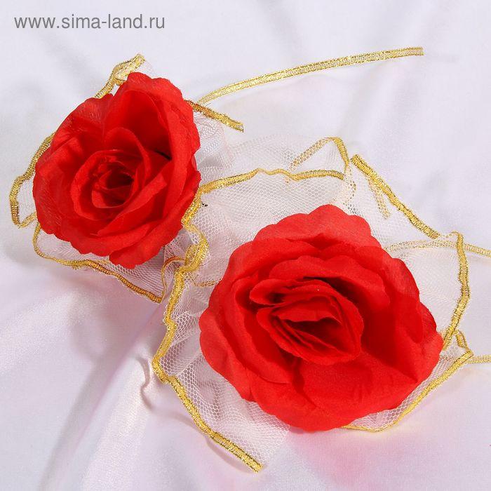 Набор красных роз для украшения свадебного авто