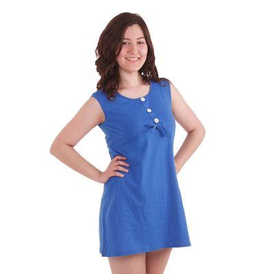 Сарафан женский, размер 50, цвет синий