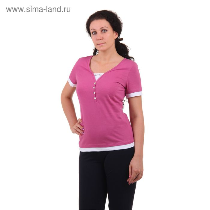 Футболка женская MK2198/01 розовый, р-р 44