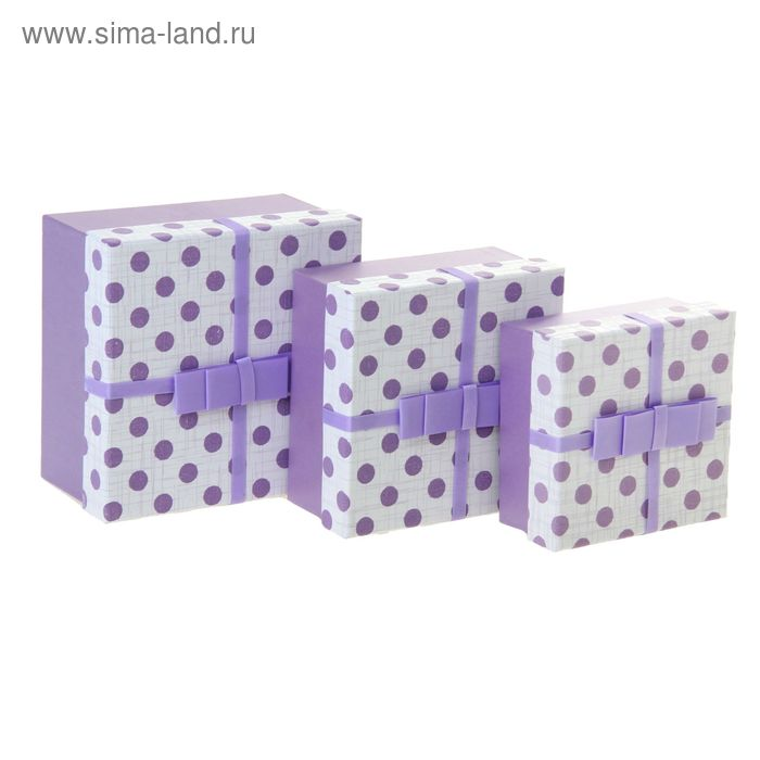 """Набор коробок 3в1 """"Простой горох"""", цвет сиреневый"""