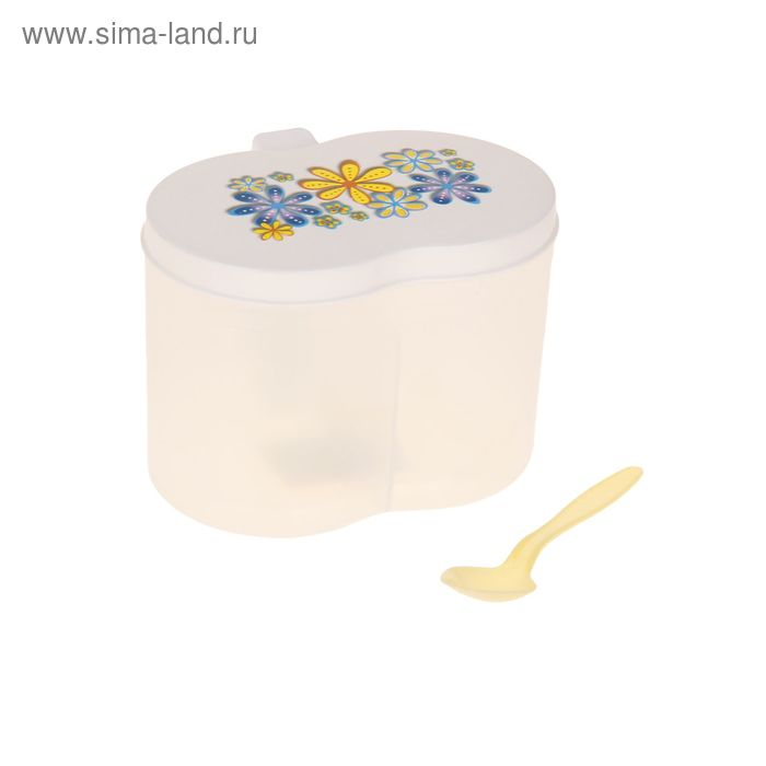 Банка для сыпучих продуктов 2 отделения, цвет МИКС