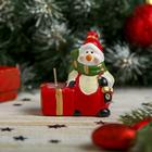 """Сувенир """"Снеговик в шарфике"""" со свечей"""
