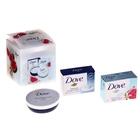 Под. набор DOVE Крем-мыло Инжир и лепестки апельсина 100 г + Крем-мыло Красота и уход 100 г + Крем 7