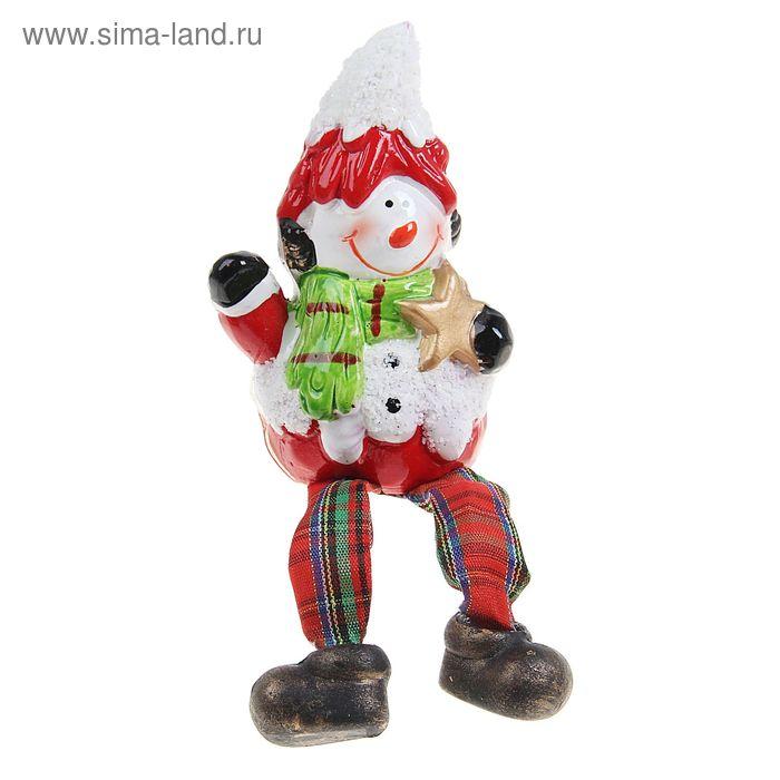 """Сувенир """"Снеговик под снегом"""" висячие ножки"""