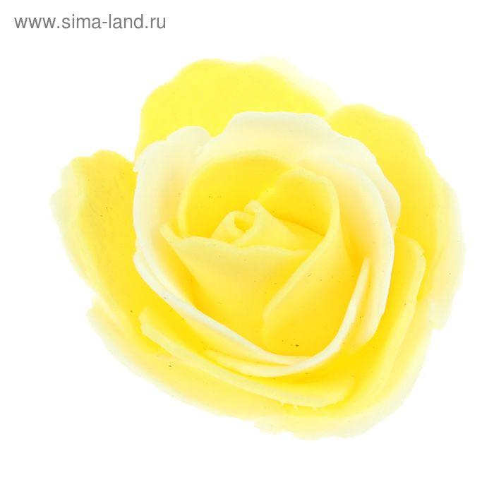 """Декор для творчества """"Роза двухцветная"""" d=5,5 см МИКС"""