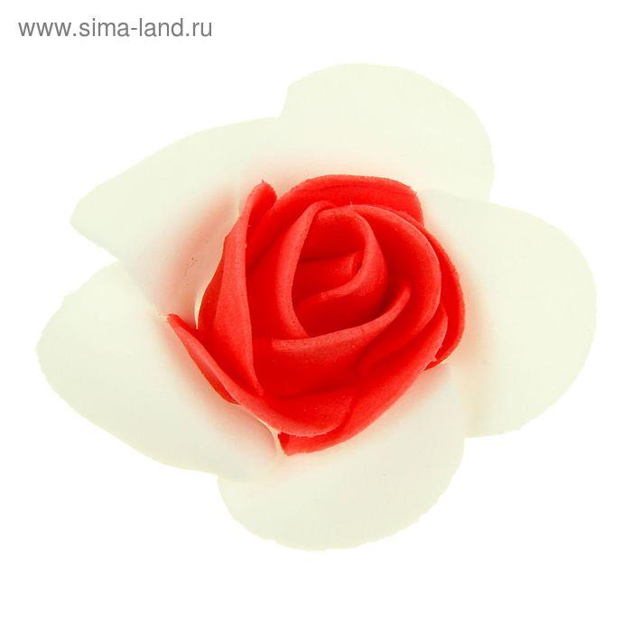 """Декор для творчества """"Роза двухцветная"""" d=5,3 см МИКС"""