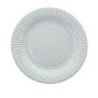 Тарелка с ламинацией, белая 18 см
