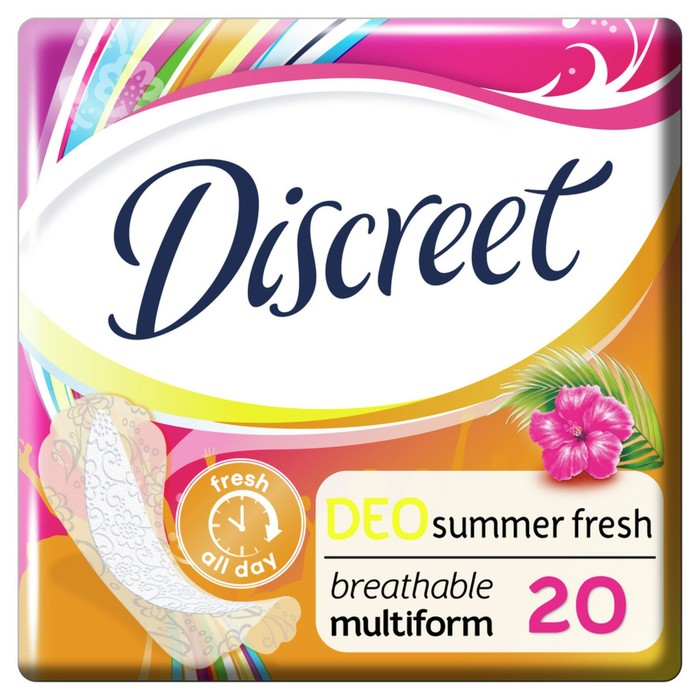 """Прокладки ежедневные Discreet Deo """"Летняя свежесть"""", 20 шт"""
