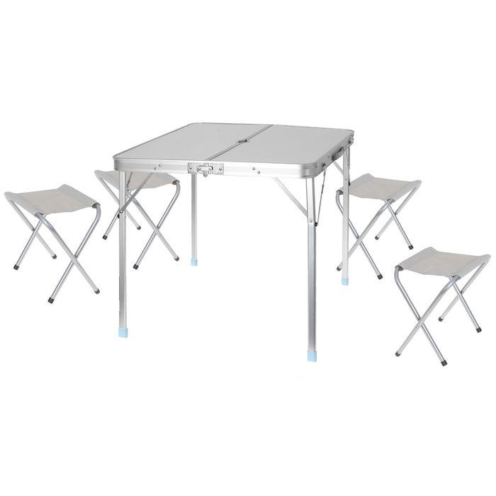 Набор мебели туристический, складной (стол 80х85х70 см, 4 стула 43х29х25 см) УЦЕНКА