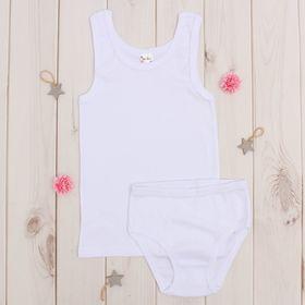 Комплект для девочки, рост 110-116 см (5 лет), цвет белый AZ-604