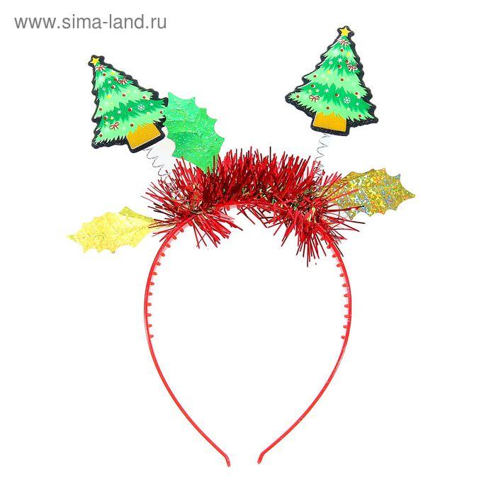 """Карнавальный ободок """"С Новым годом! Ёлочки"""""""