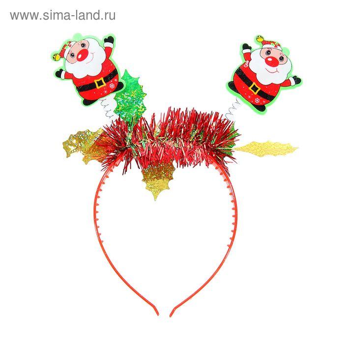 """Карнавальный ободок """"С Новым годом! Дед Мороз"""""""