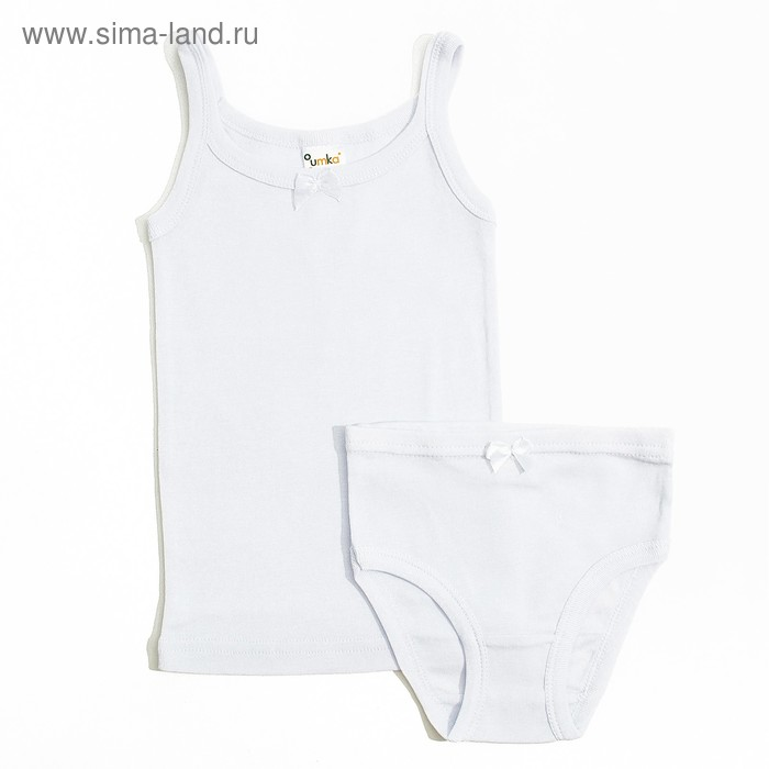 Комплект (майка, трусы) для девочки, рост 110-116 см, цвет белый AZ-607_Д