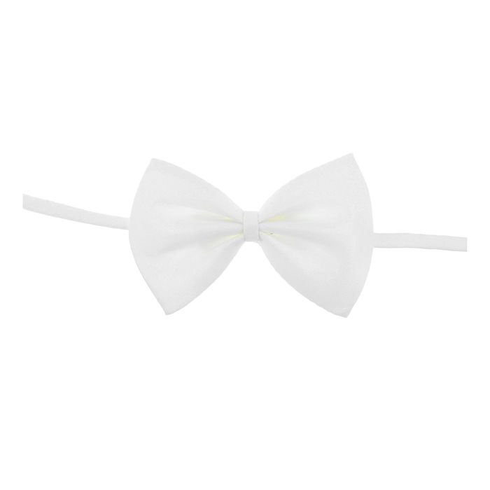 "Карнавальная бабочка ""Классика"", цвет белый"