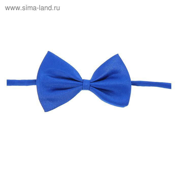 """Карнавальная бабочка """"Классика"""", цвет синий"""