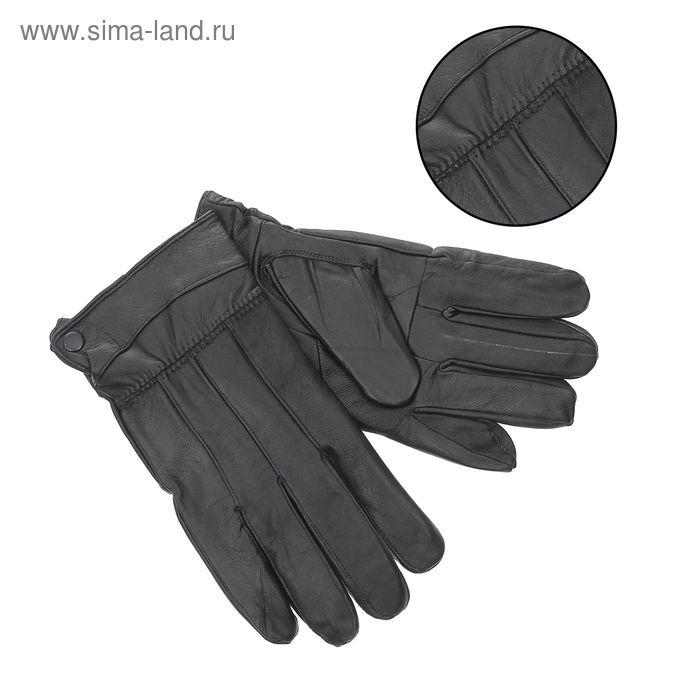 """Перчатки мужские """"Джек"""", подклад - флис, р-р 9,0, цвет чёрный"""