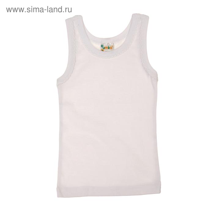 Майка для девочки, рост 80-86 см, цвет белый AZ-634