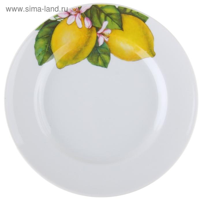 """Тарелка мелкая d=20 см h=2,9 см """"Лимоны-2"""""""