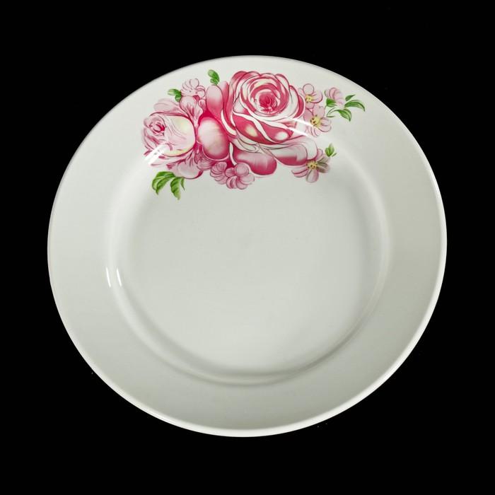 """Тарелка мелкая 20 см """"Розовые розы"""""""