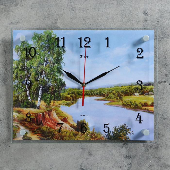 """Часы настенные, серия: Природа, """"Река и природа"""", 30х40  см, микс"""