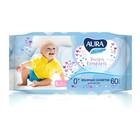 Влажные салфетки Aura Ultra Comfort, детские, МИКС, 60 шт.