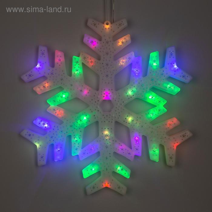 """Фигура """"Снежинка"""" 40х40 см, пластик, 40 LED, 240V RG/RB"""