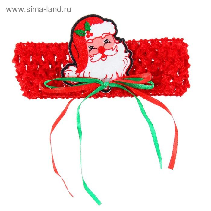 "Карнавальная повязка-резинка ""Дедушка Мороз"""