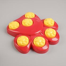 """Интеллектуальная игрушка для сухого корма """"Лапа"""" с 7 отсеками"""
