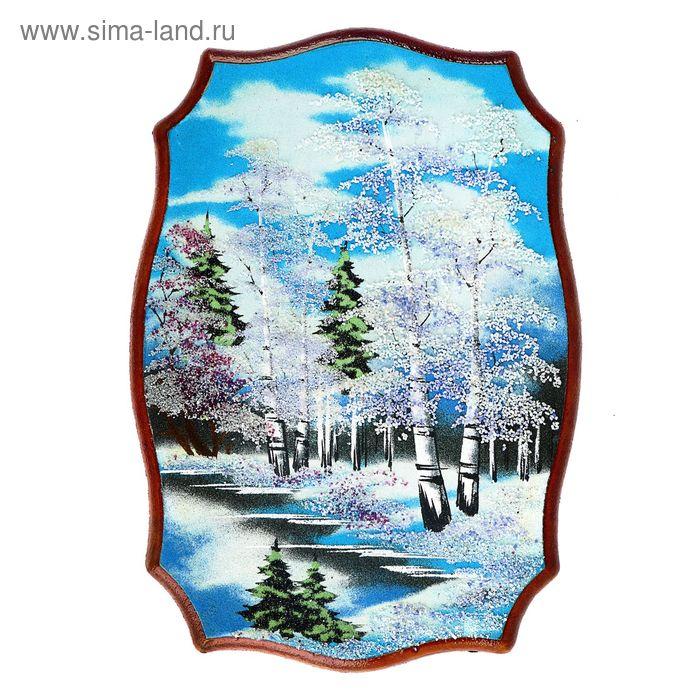 "Картина ""Зима"", каменная крошка"