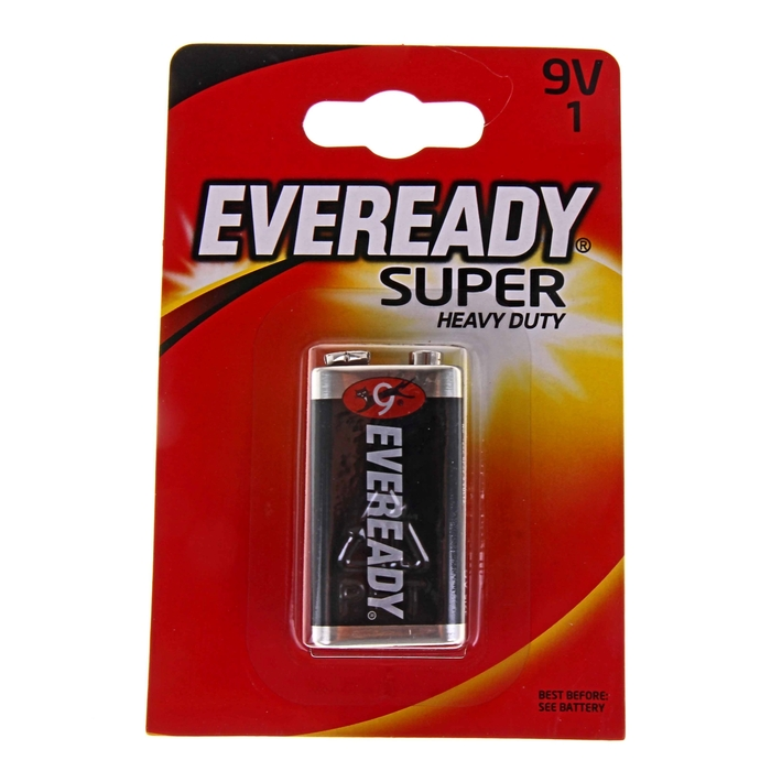 Батарейка солевая Energizer Eveready Super Heavy Duty, блистер, 1 шт.