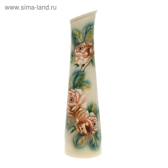 """Ваза напольная """"Стелла"""" чайные розы"""