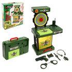 """Игровой модуль в чемодане """"Милитари"""", игровой столик-тир, военное снаряжение, световые и звуковые эффекты, работает от батареек, высота 63 см"""