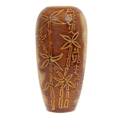 """Ваза """"Аурика"""" большая, бамбук, коричневая, шамот"""