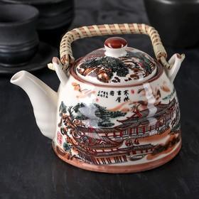 Чайник заварочный «Пейзаж», 600 мл, с металлическим ситом