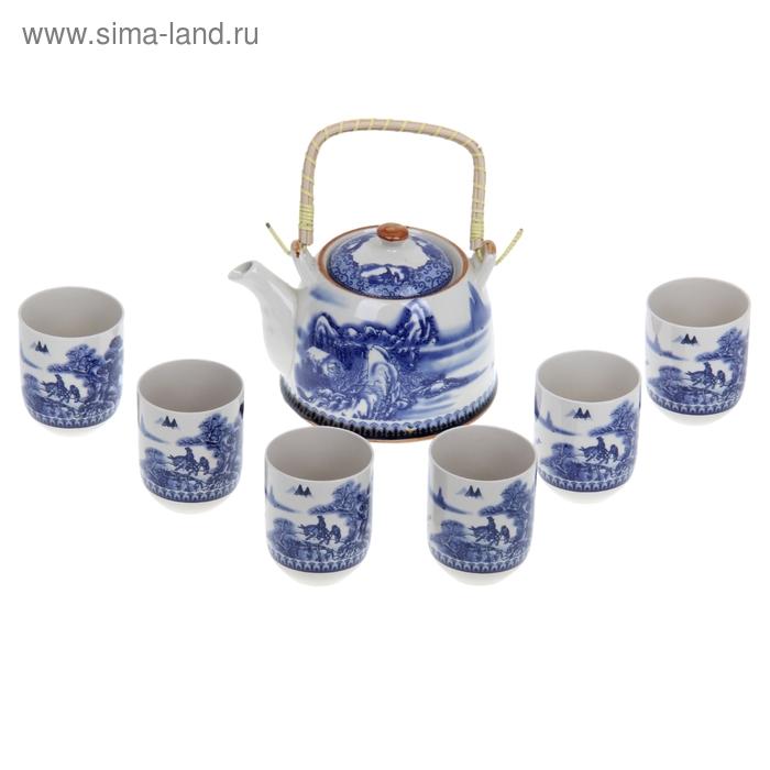 """Набор для чайной церемонии 7 предметов """"В горах"""" (чайник 900 мл, чашка 70 мл)"""