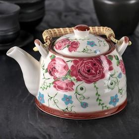 Чайник заварочный «Роза дивная», 600 мл, с металлическим ситом