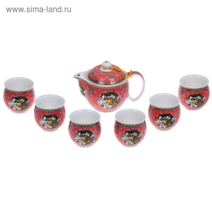 """Набор для чайной церемонии 7 предметов """"Древность"""" (чайник 400 мл, чашка 70 мл)"""