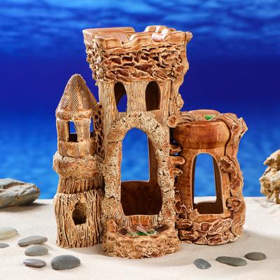 """Декорация для аквариума """"Замок-маяк"""", 13 х 22 х 23 см"""