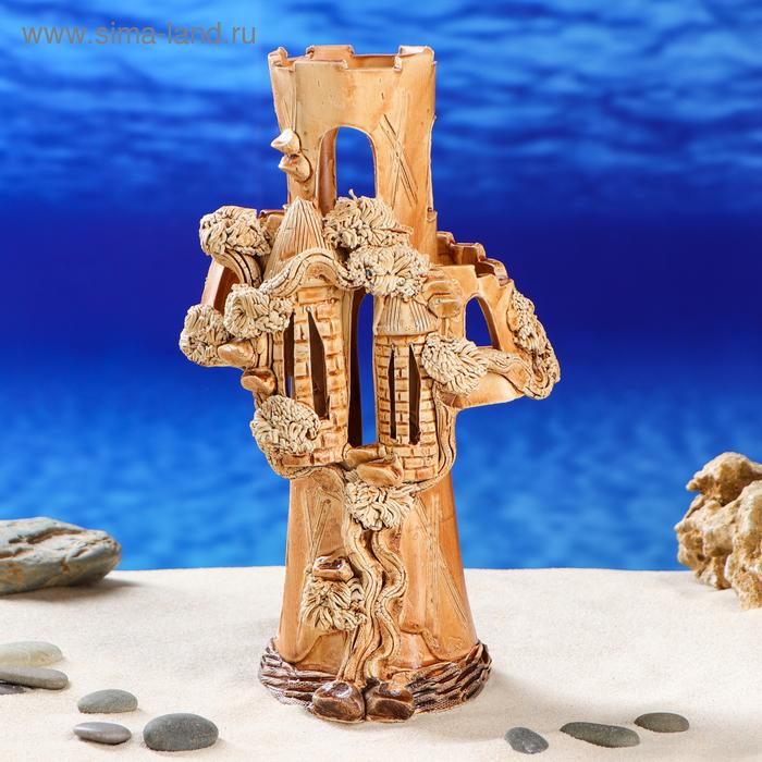 """Декорации для аквариума """"Замок-колонна"""""""